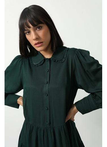 Gusto Bebe Yaka Elbise  Yeşil